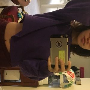 Champion purple crop sweater